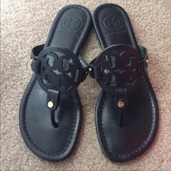 78a92dcdd8480 Tory Burch Black Matte Miller Sandals size 7 M. M 5aea368f45b30c9b7d7401aa
